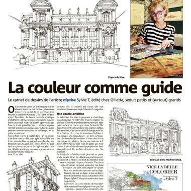 Article dans Nice Matin - Nice Solutions - Atelier Sylvie T  la couleur comme guide