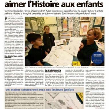 Article dans Nice Matin - Pédagogie et dessin - Sylvie T