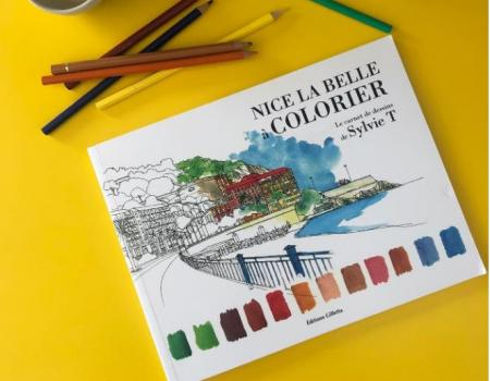 Discover the coloring book Nice la belle to color
