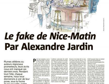 Illustrations from the News on the Nice-Matin newspaper