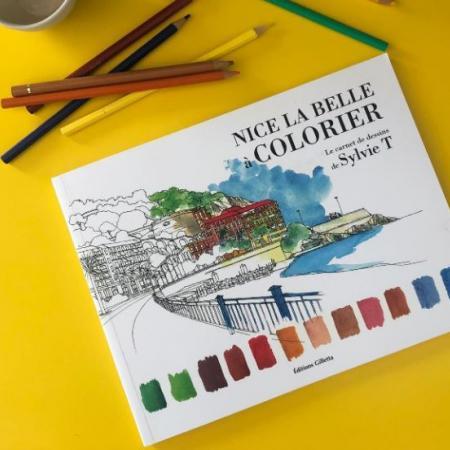 Découvrez le carnet de coloriage Nice la belle à colorier