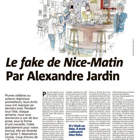 Illustrations des Nouvelles sur le journal Nice-Matin