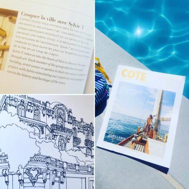 Parution dans le magazine Côte Sud - Atelier Sylvie T illustrations de Nice