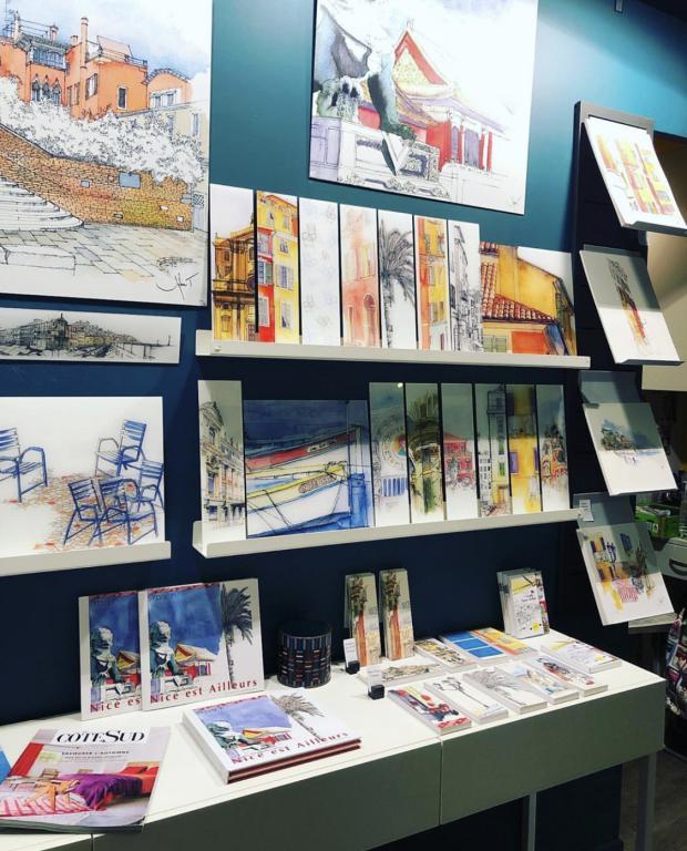 Exposition Atelier Sylvie T Nice - illustration architecture