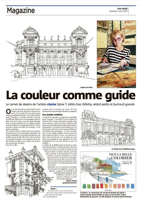 Nice Matin - Travail illustration Sylvie T - Atelier Nice