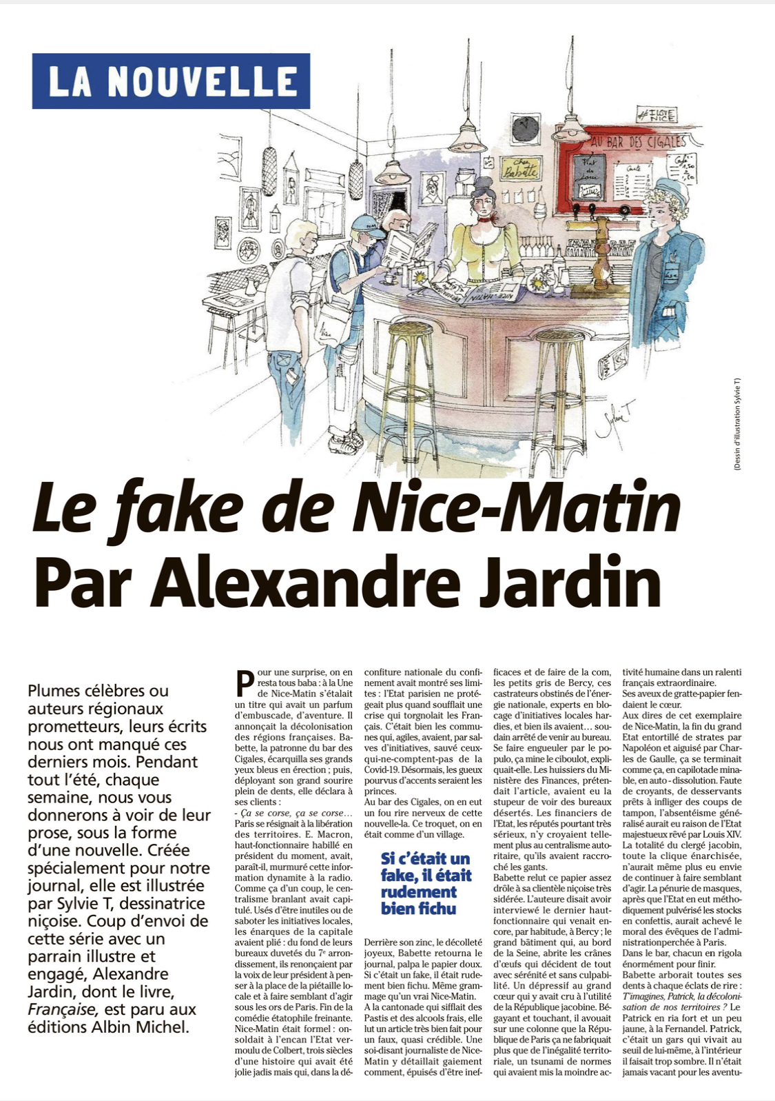 Les nouvelles Nice Matin - Illustrations by Sylvie T